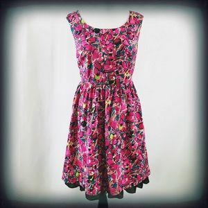 Ann Taylor Petite Midi Floral Tank Dress 8P EUC